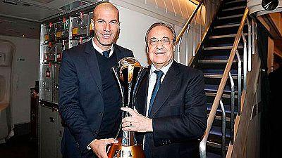 El Madrid llega a Barajas tras proclamarse campeón del Mundial de Clubes
