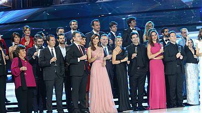 Un brindis pone fin a la gala del 60 aniversario de TVE