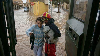 El temporal de lluvia está haciendo estragos en Murcia, Alicante, Valencia y Baleares