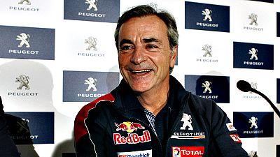 """""""A mi hijo le encanta el Dakar, me hace mucha gracia porque se  invierten un poco los papeles. Yo durante todo el año voy a sus  carreras, le aconsejo y luego cuando llega al Dakar a lo mejor toma  él el papel ese que tengo yo durante todo el año. Es"""