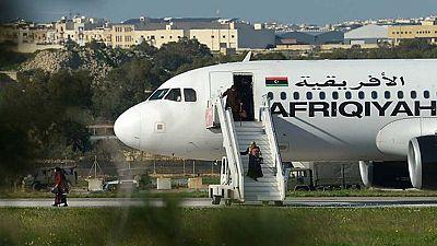 Un avión libio, desviado a la Valeta, en Malta, por dos individuos armados con granadas