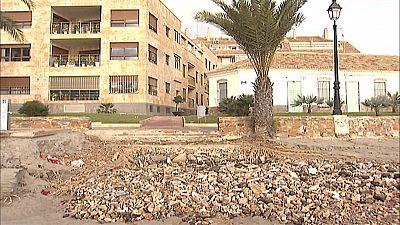 En Murcia, continúan recobrando la normalidad tras el temporal