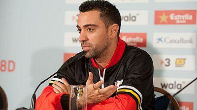 El exjugador del Barça Xavi Hernánez ha vuelto a Barcelona para disputar el partido entre Cataluña y Túnez y ha apoyado la continuidad de Luis Enrique al frente del banquillo culé.