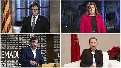 Los presidentes autonómicos de Cataluña, Andalucía, Extremadura y Navarra adelantan sus discursos y mensajes de fin de año