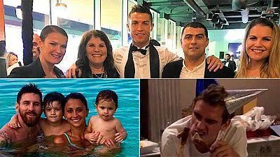 Las estrellas de la Liga dan la bienvenida al 2017 en familia