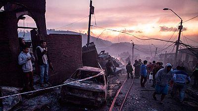 Decretada la alerta roja en Valparaíso (Chile) por un gigantesco incendio
