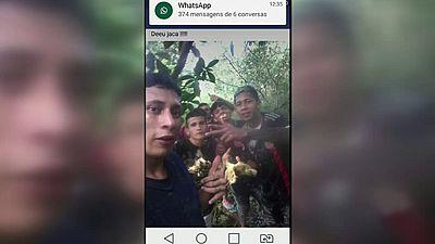 Los presos huídos de una cárcel en Brasil se toman selfies mientras huyen de la policía