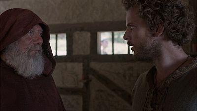 El final del camino - Esteban consigue hablar con el extraño monje