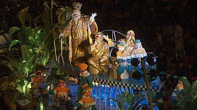Los Reyes Magos llegan a Barcelona por mar