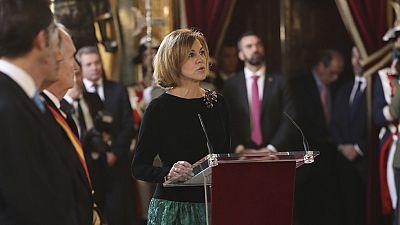 María Dolores de Cospedal ejerce por primera vez como ministra de Defensa en la Pascua Militar