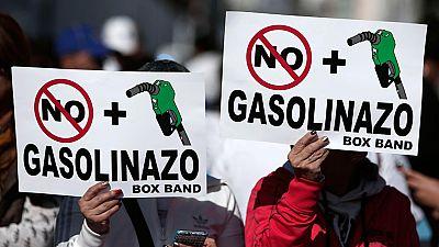 Nueva manifestación en México en contra de la subida de los precios de la gasolina