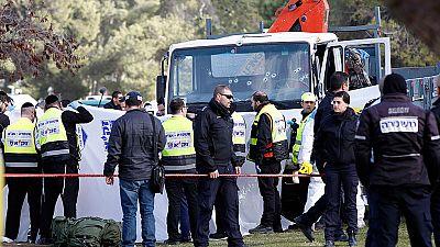 Cuatro personas muertas tras ser atropelladas por un camión grúa en Jerusalén