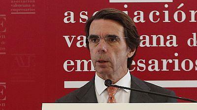 Aznar cree que la agenda reformista del Gobierno está incompleta