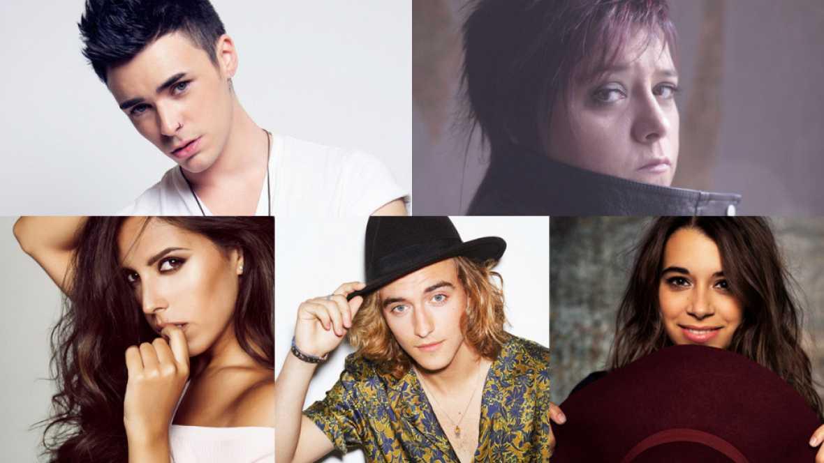 Los cinco candidatos de Objetivo Eurovisión
