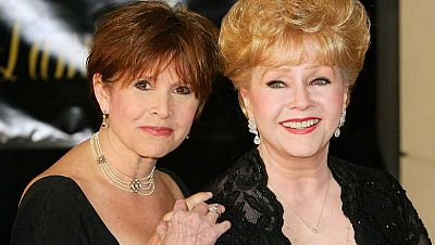 Debbie Reynolds (1932-2016) y Carrie Fisher (1956-2016)