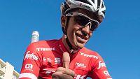 El ciclista madrileño Alberto Contador está de pretemporada con su nuevo equipo, el Trek-Segafredo, que ha presentado sus nuevos colores. Contador correrá el Tour de Francia y no descarta la Vuelta.