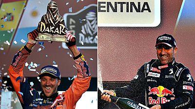 El motociclista británico Sam Sunderland (KTM) ha ganado su primer Dakar, mientras que el francés Stéphane Peterhansel (Peugeot) se consagró campeón por decimotercera vez, la séptima en coches, de la carrera de rally más difícil del mundo.