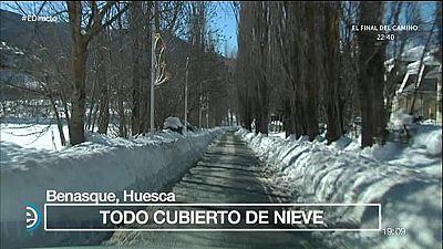 España Directo - Nevada histórica, heladas y el termómetro a 17 bajo cero en Benasque