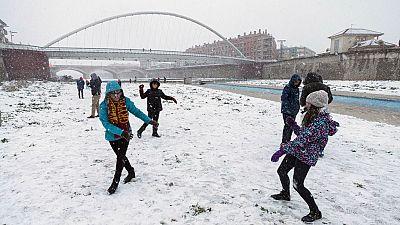 Copiosas nevadas en el este peninsular y heladas