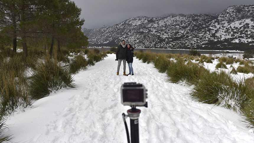 Las nevadas continuarán en las comunidades de Valencia y Baleares