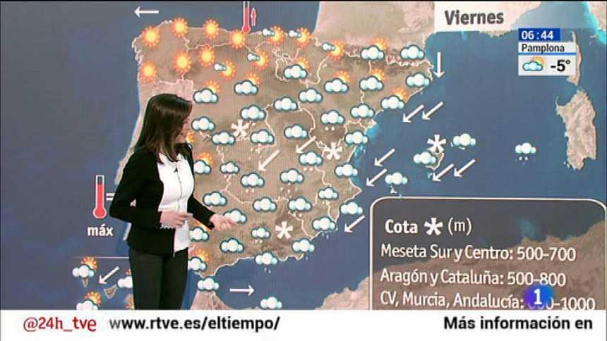 Las nevadas continuarán hoy en las comunidades de Valencia y Baleares