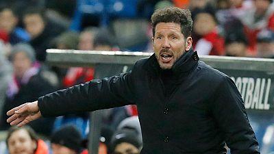 "Simeone: ""Me pone contento la respuesta del equipo"""