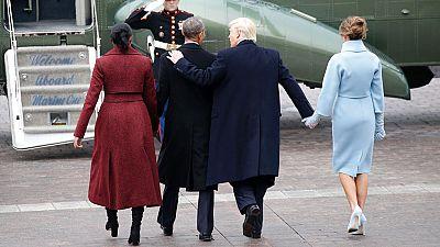 Los Trump y los Obama abandonan el Capitolio tras la toma de posesión del republicano