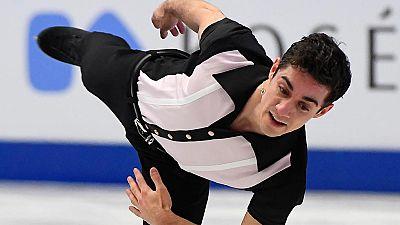 Ejercicio completo del patinador español Javier Fernández en el programa largo del Europeo de Ostrava, con el que ha conquistado su quinto título consecutivo.