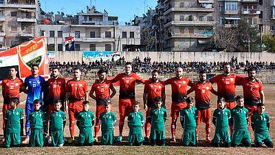 Por primera vez en cinco años se ha podido jugar un partido de futbol en Aleppo