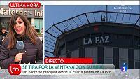 Se arroja con su hija por la ventana del hospital La Paz