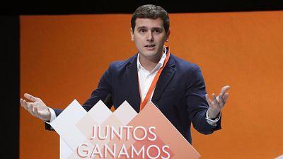Entrevista al presidente de Ciudadanos, Albert Rivera, en el Canal 24 Horas