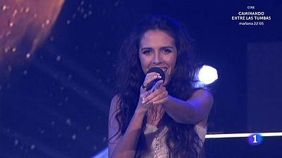 """La madrileña Mirela ha cantado """"Contigo"""", un tema de pop latino con mucho ritmo que ha acompañado con un baile español."""