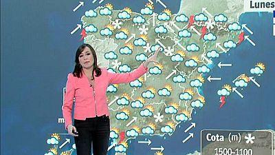La borrasca se desplaza al Sistema Central y norte de Aragón y Cataluña