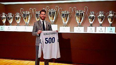 Ramos celebra sus 500 partidos en el Real Madrid con unas cifras de récord