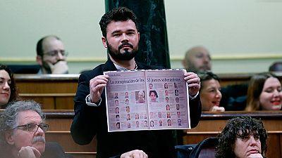 """Rajoy recuerda que """"todos estamos sometidos a la ley"""" y Rufián le responde: """"Nos vemos en las urnas"""""""