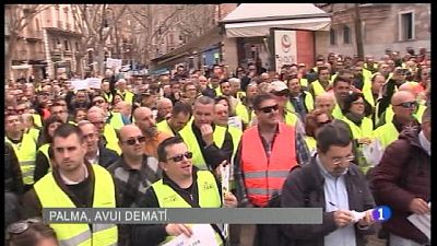 Els taxis col·lapsen Palma