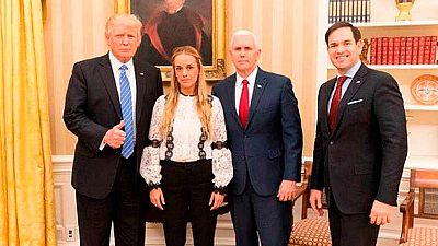 "Trump pide la liberación ""inmediata"" de Leopoldo López tras recibir a Lilian Tintori"