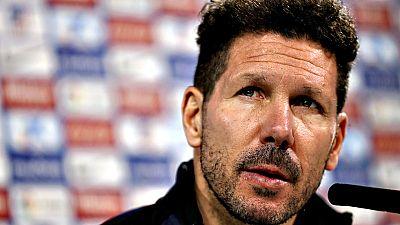 """El entrenador del Atlético de Madrid, Diego Pablo Simeone,  prefirió esperar a """"los últimos cinco partidos"""" de LaLiga Santander  para ver cuáles son los objetivos reales de su equipo en el  campeonato, donde su próxima parada es este sábado en El Mol"""