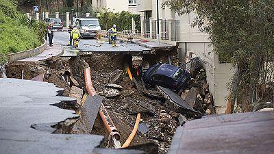 Una tromba de agua y granizo causa destrozos e inundaciones en Málaga