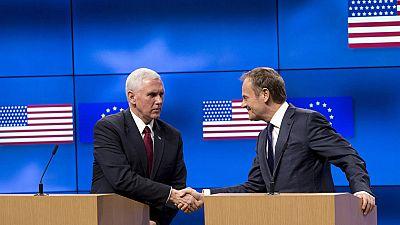 """El vicepresidente de Estados Unidos, Mike Pence, ha expresado el """"fuerte compromiso"""" del presidente estadounidense, Donald Trump, con la Unión Europea, y ha garantizado que su país será un """"socio total"""" en la lucha contra el terrorismo."""