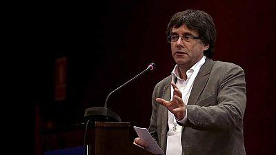 """Puigdemont: """"Hace años que estamos sentados en la mesa de negociación y al otro lado no se sienta nadie"""""""