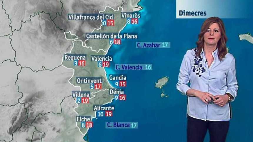 El tiempo en la Comunidad Valenciana - 21/02/17