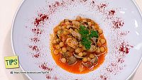 TIPS - Cocina - Pisto con garbanzos y berberechos
