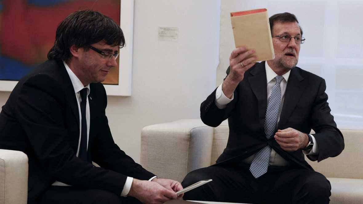 Rajoy y Puigdemont se reunieron en La Moncloa el pasado 11 de enero