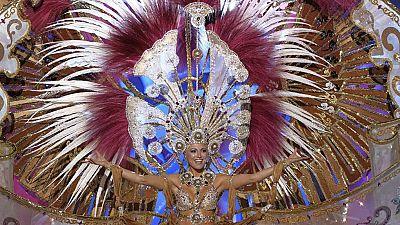 Esther Pérez fue coronada anoche Reina del Carnaval de Las Palmas de Gran Canaria 2017