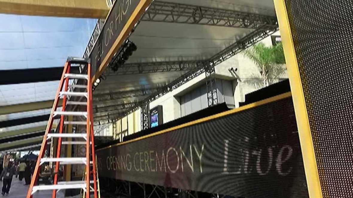 Todo listo para la entrega de los premios Oscar en Los Ángeles