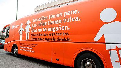 Polémica por el autobús de HazteOír que difunde en Madrid un mensaje contra la transexualidad