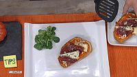 TIPS - Receta - Tostas crujientes con crema de queso azul
