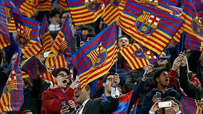 La afición culé enloquece con el pase del Barça