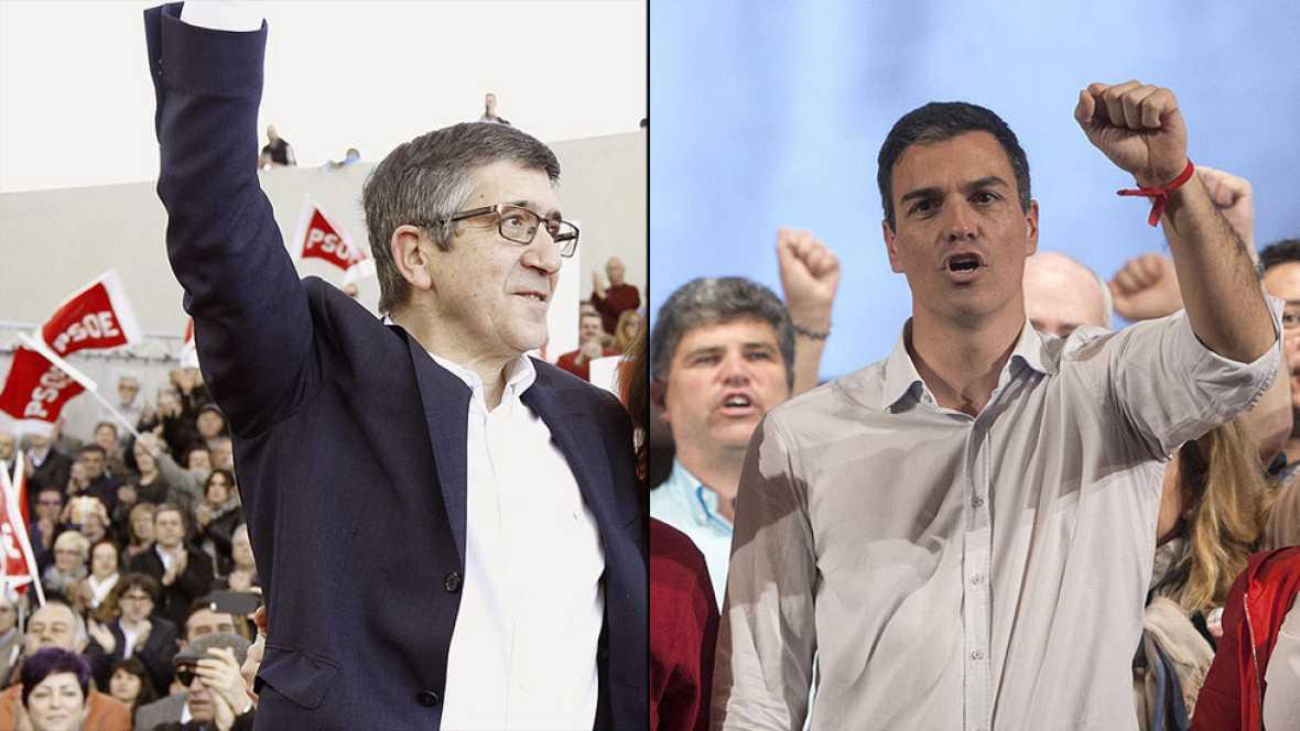 Patxi López y Pedro Sánchez defienden sus candidaturas a liderar el PSOE en diferentes actos